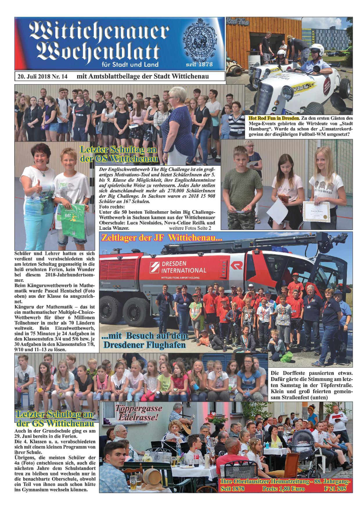 Wochenblatt Nr. 14 - 2018