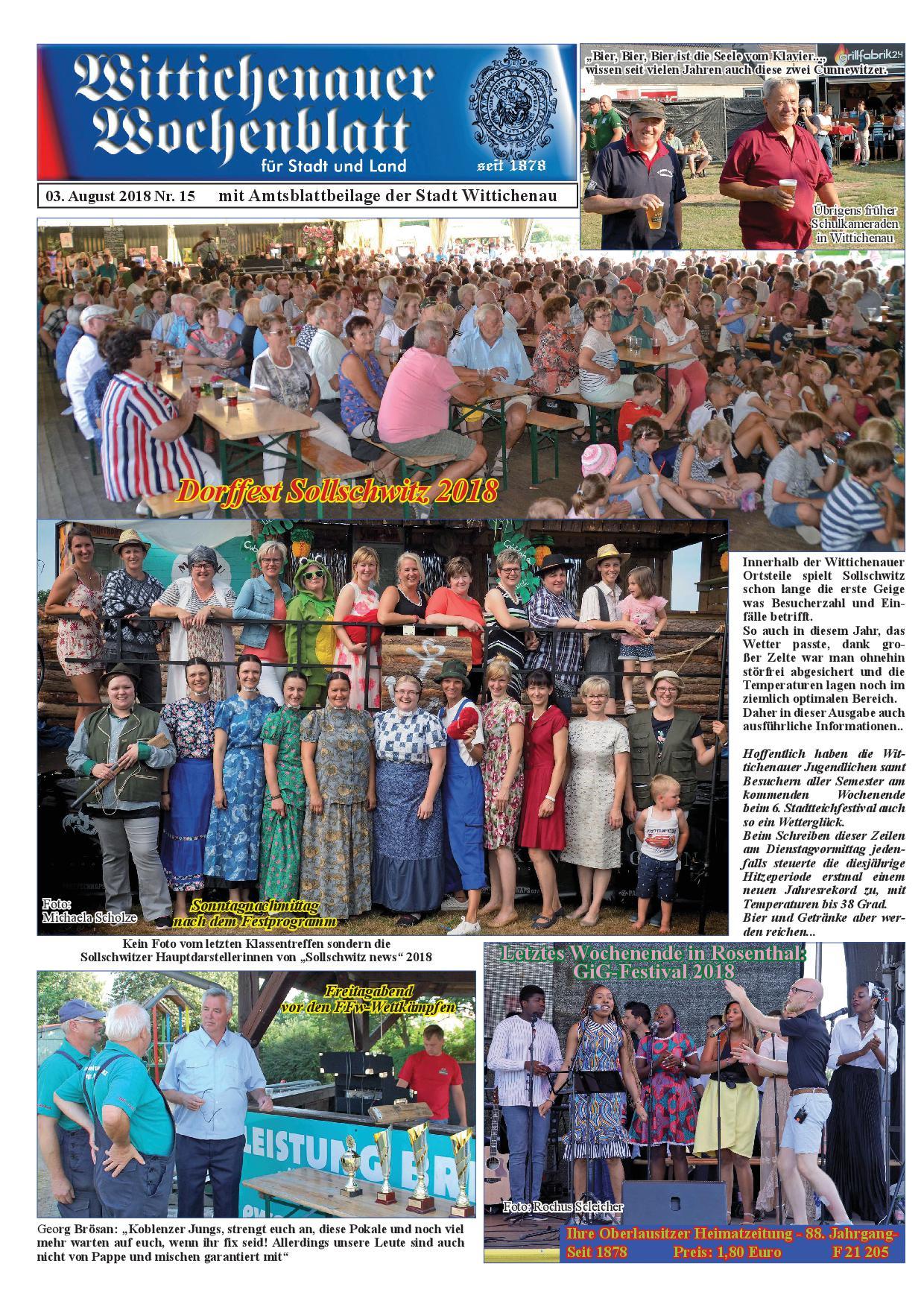 Wochenblatt Nr. 15 - 2018