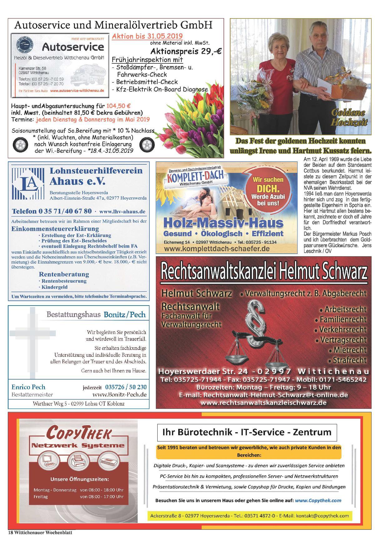 Wochenblatt Nr. 9 - 2019