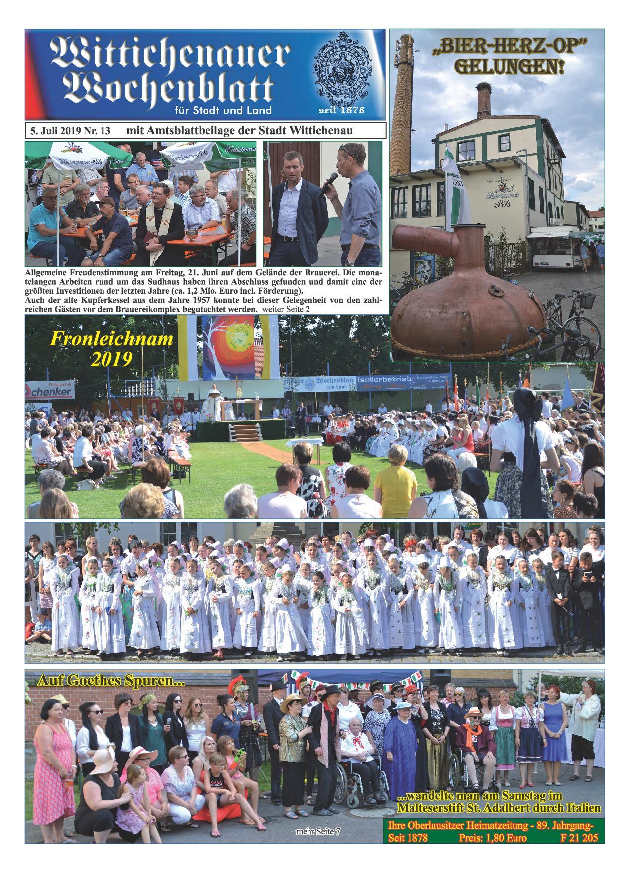 Wochenblatt Nr. 13 - 2019