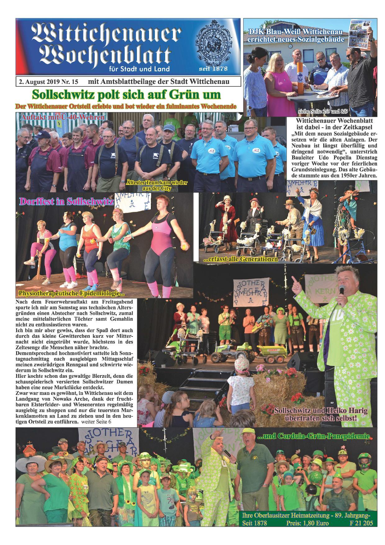 Wochenblatt Nr. 15 - 2019
