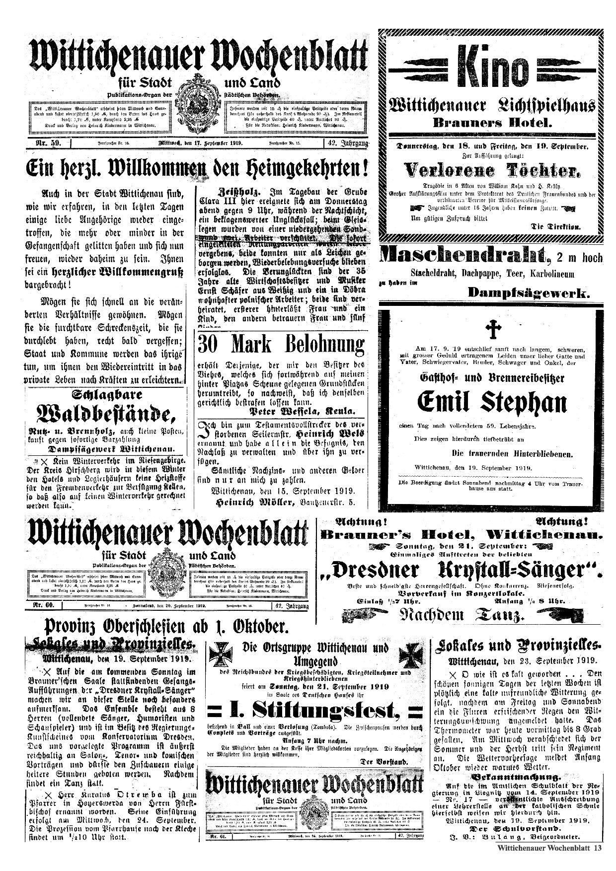 Wochenblatt Nr. 19 - 2019