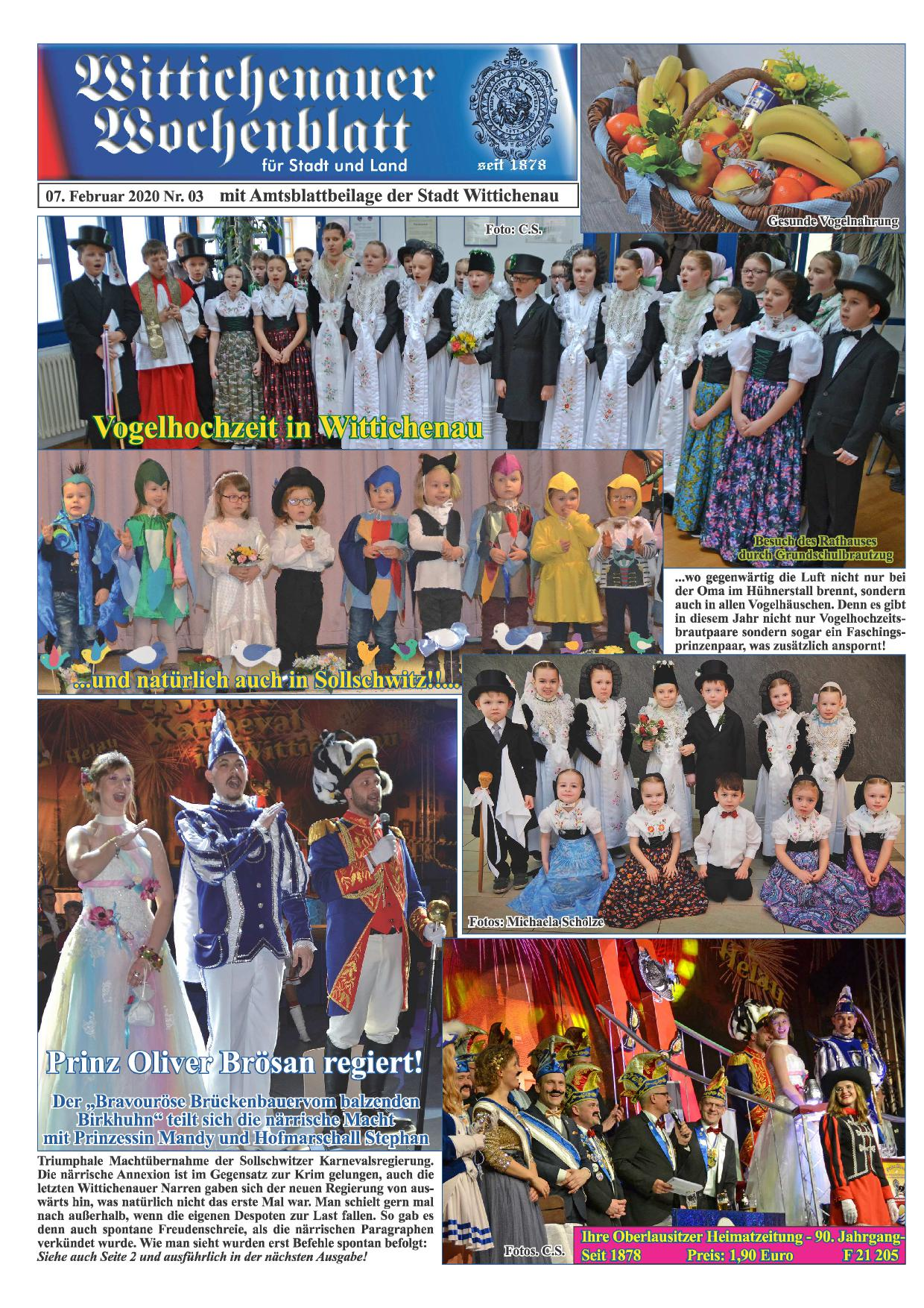 Wochenblatt Nr. 3 - 2020