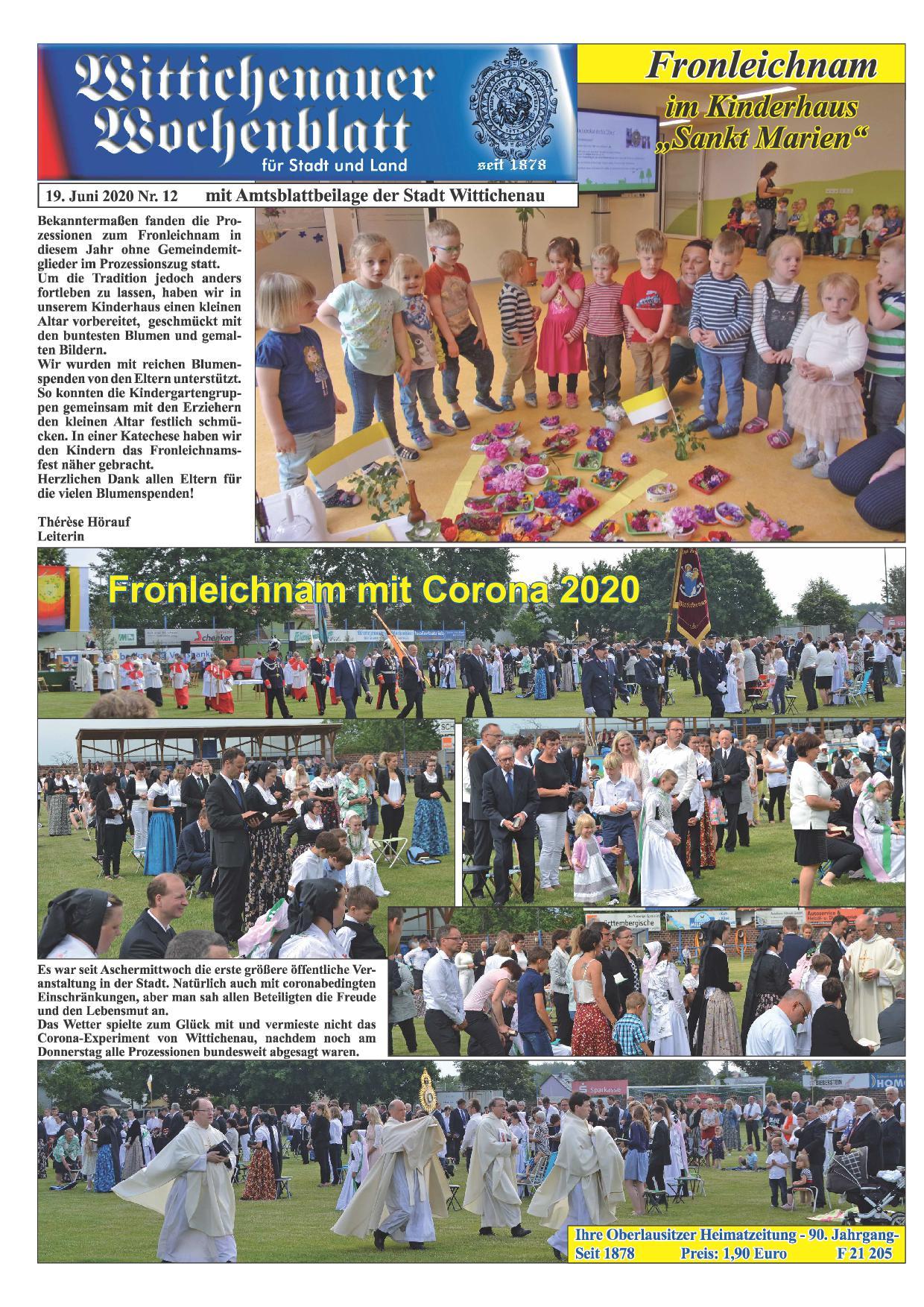 Wochenblatt Nr. 12 - 2020
