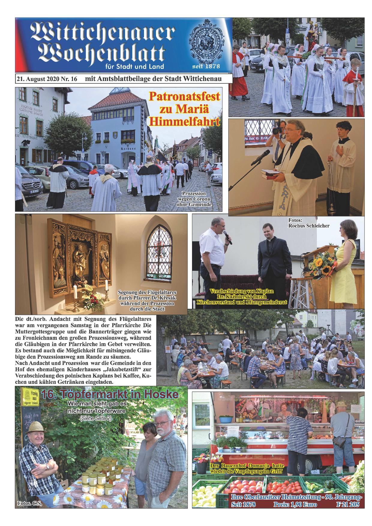 Wochenblatt Nr. 16 - 2020