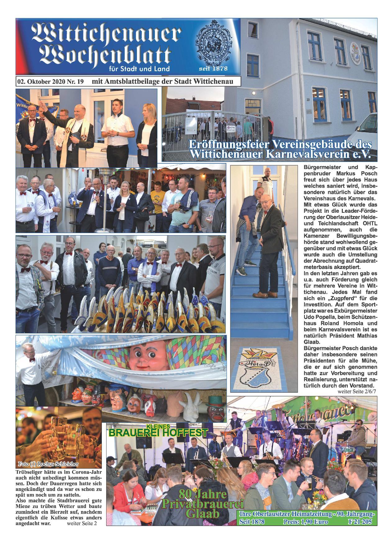 Wochenblatt Nr. 19 - 2020