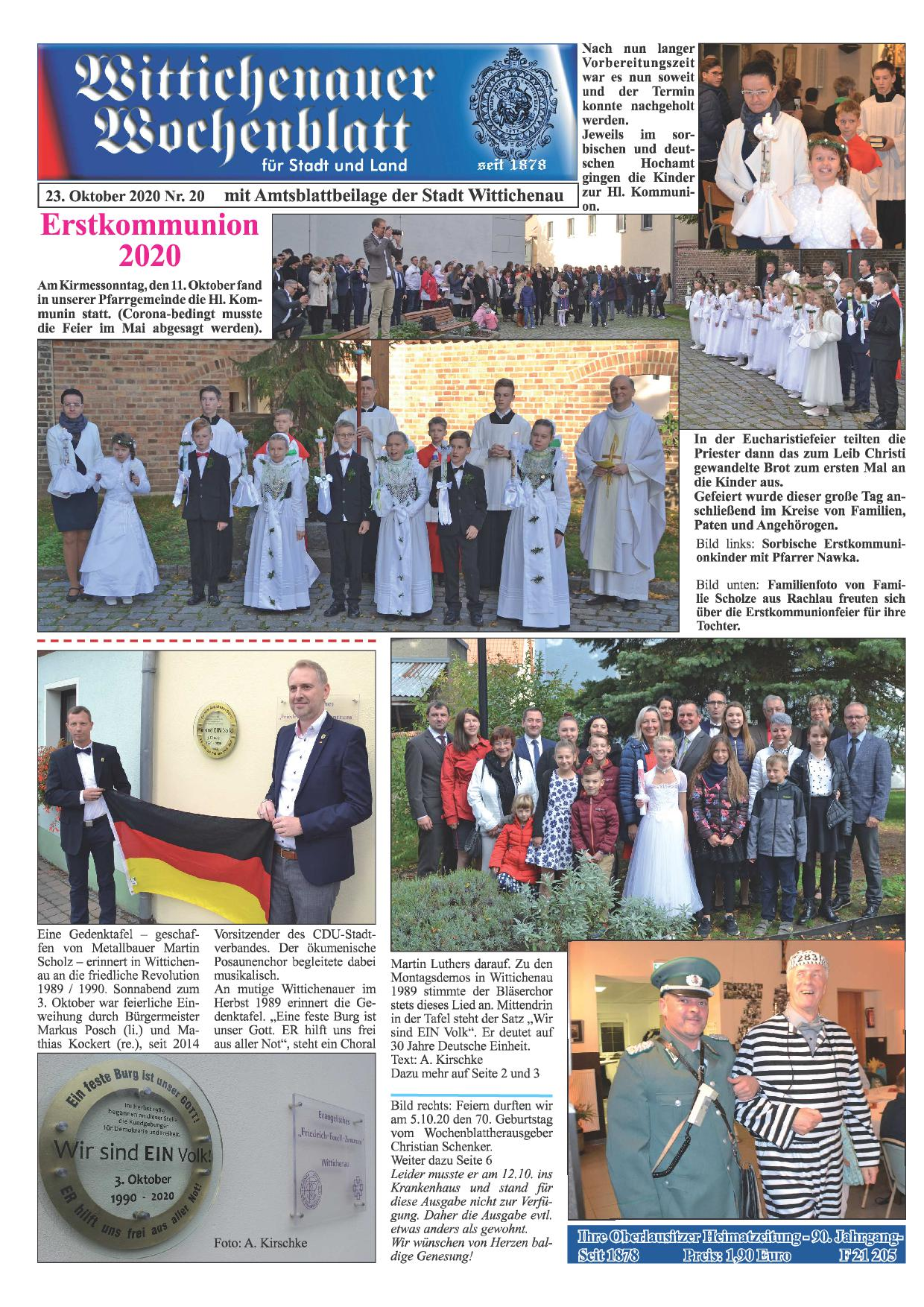 Wochenblatt Nr. 20 - 2020