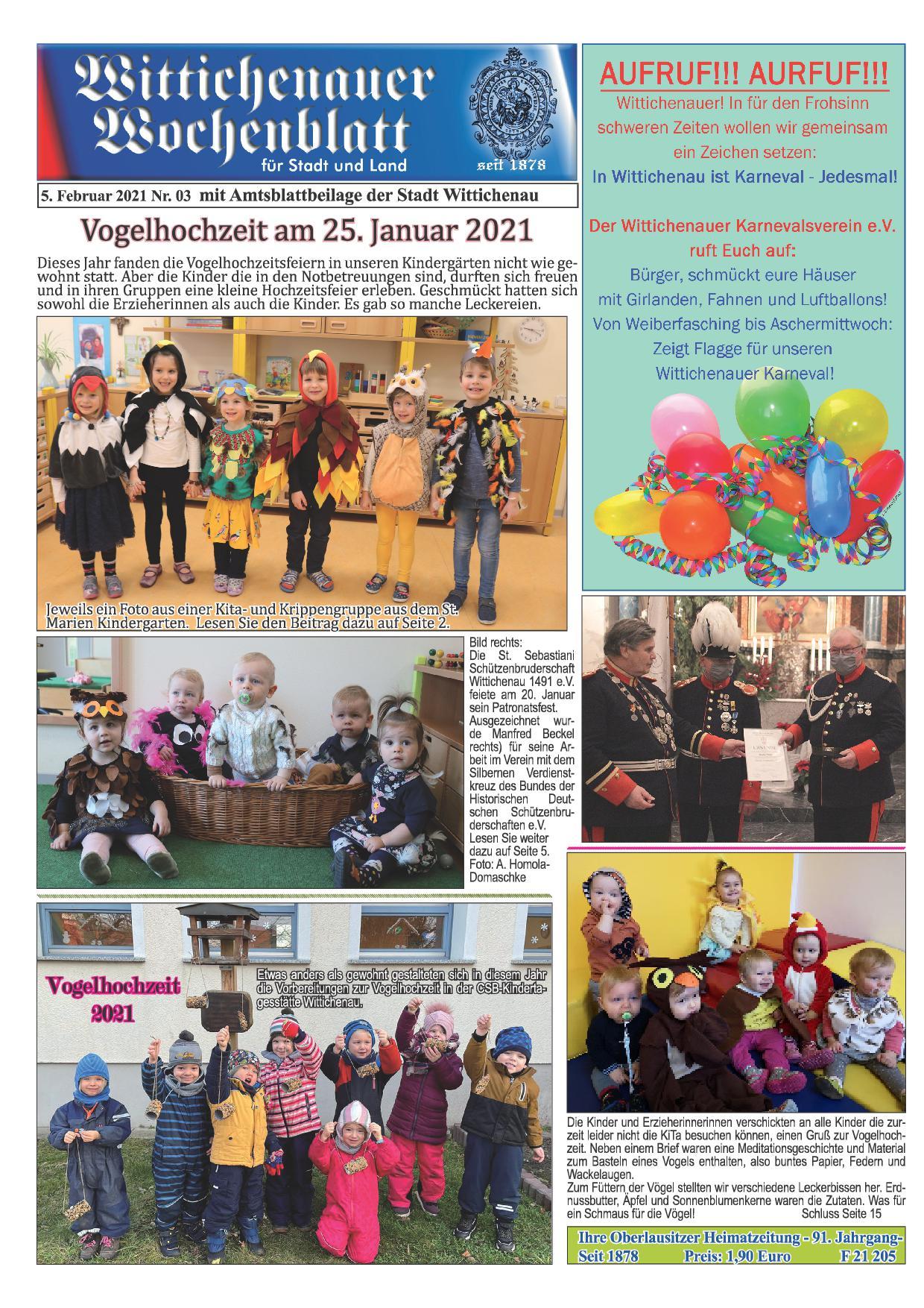 Wochenblatt Nr. 3 - 2021